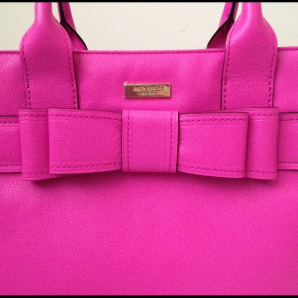 56% off kate spade Handbags - Kate Spade Pink Leather Bow ...