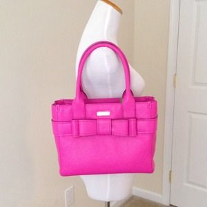 kate spade Bags - Kate Spade Pink Leather Bow Bag