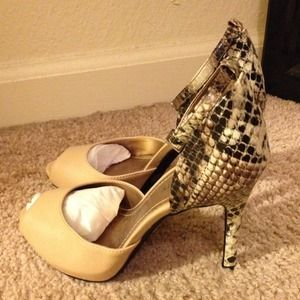 Ankle strap heels!