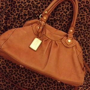 Reduced Marc by Marc Jacobs Groovee cognac satchel