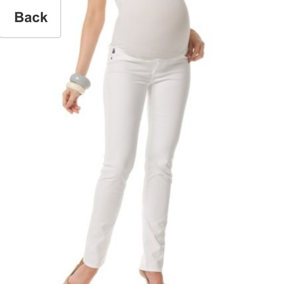 AG Adriano Goldschmied - AG maternity Stilt Sateen skinny white ...