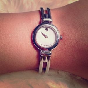 Authentic women's stainless steel Movado watch