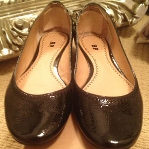 BP Black Patent Flats