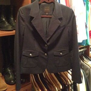 The Limited Navy Blazer with Silver Buttons