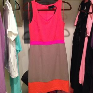 Never worn! Cynthia Rowley Color Block Dress