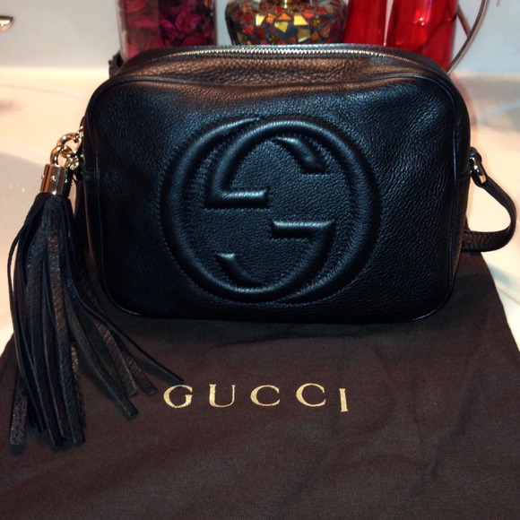 5be1d2d088e5 Gucci Handbags - AUTHENTIC GUCCI Soho Black Disco Bag.