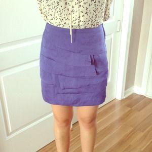 Layered purple skirt