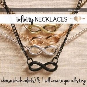 Infinity Necklaces. 2 left.