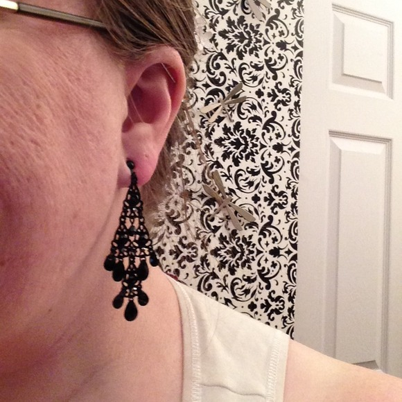 40 off Claires Jewelry Black Chandelier Clip On Earrings from – Clip on Earrings Chandelier