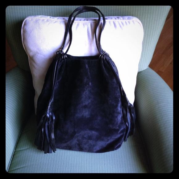 bottega veneta suede and leather drawstring backpack premium selection  21452 02e68 d00b550f95251