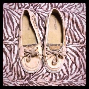 leopard Sperry Boat Shoes