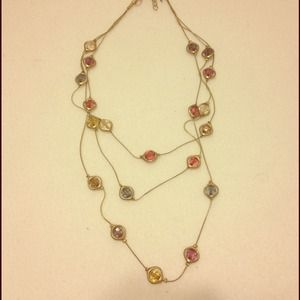 Tiered multicolored necklace