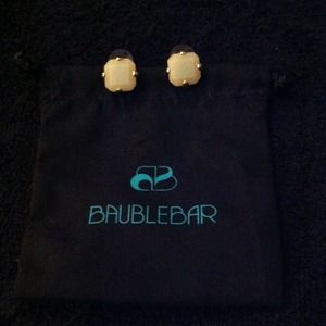 Bauble Bar Pale Mint Stud Earrings