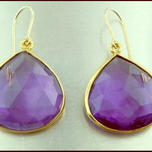 H.P 2/6/14 Gorgeous teardrop purple earrings