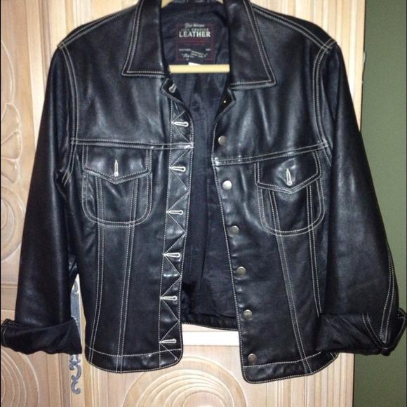86% off GAP Outerwear - GAP leather denim jacket style jacket