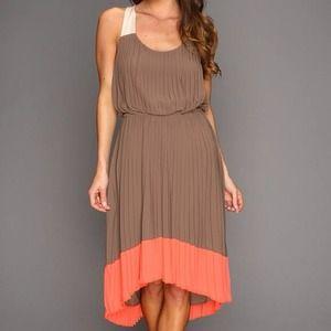 Jessica Simpson Pleated Colorblock Dress