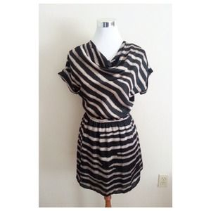 Francesca's Dresses & Skirts - NEW Open Back Striped Dress