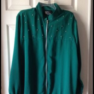 Teal oversized jacket