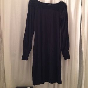 Rayon stretch black dress