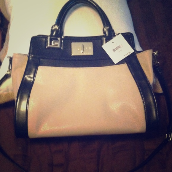 Nine West Handbags - SOLD!!!' Blush and black Nine West bag