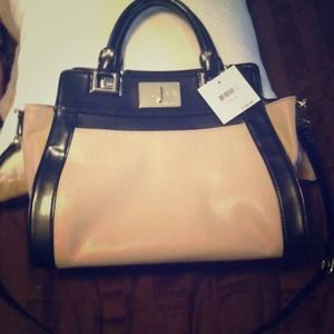 SOLD!!!' Blush and black Nine West bag