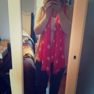 Banana republic Hot pink fish print scarf