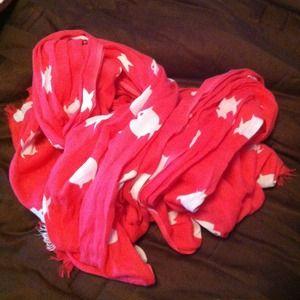 Banana Republic Accessories - Banana republic Hot pink fish print scarf