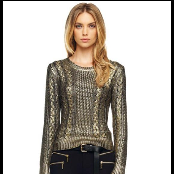 Michael Michael Kors Gold Metallic Sweater! M 52582e7c52ab064bf0012f12 863795186