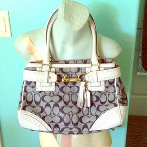 host pickAuthentic coach denim handbag