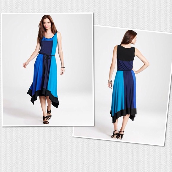 Ann Taylor - ‼️SALE‼ NWT Blue Color Block Maxi Dress from Tess ...
