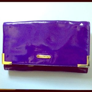NEW Patent purple shoulder bag / clutch