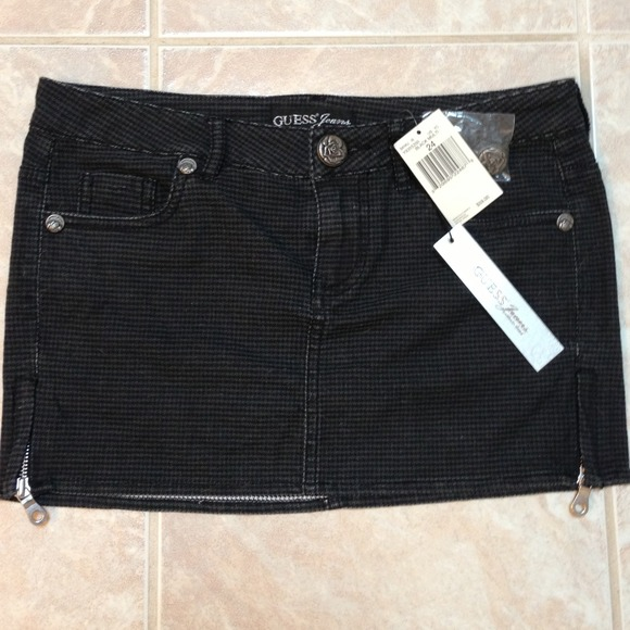 49% off Guess Denim - Guess Black Jean Mini Skirt NWT from Sarah's ...