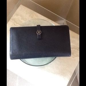 ON HOLDChanel Authentic Black Wallet