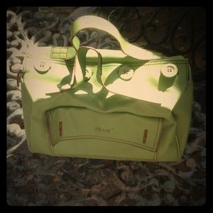 Meadow Green Matt & Nat Faux ButtonClosure Handbag