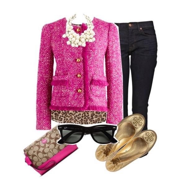 J. Crew - 🎀N/A🎀J.Crew fuchsia pink tweed blazer jacket from ...