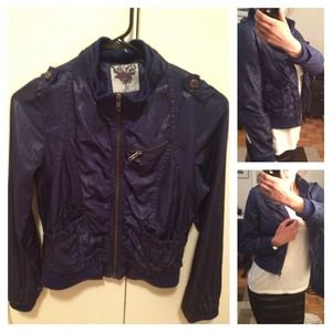 Deep blue/purple casual jacket