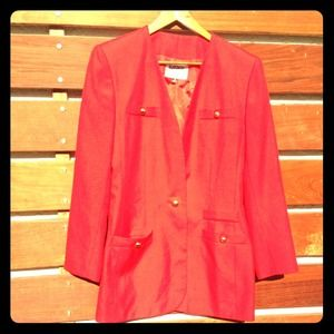 AUTHENTIC CHANEL Vintage red blazer gold buttons