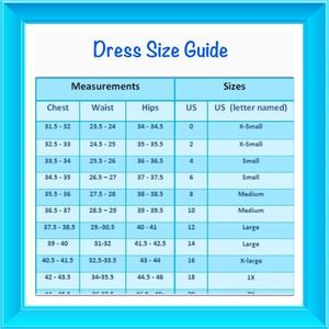 Other - Dress size chart to help you find your  size 💖😍