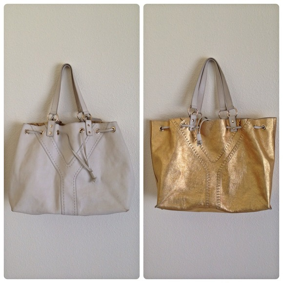 Yves Saint Laurent - ??Authentic YSL Reversible Tote Leather Bag ...