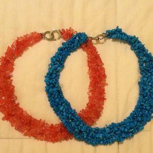 Coral & Turquoise necklace bundle