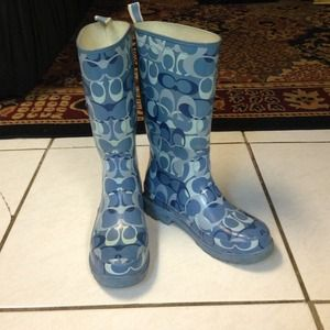 COACH rain boots!