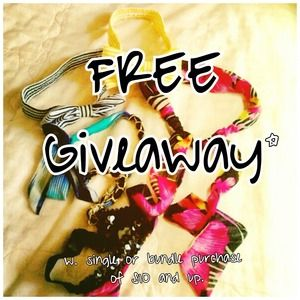 FREE Giveaway w/ purchase!!!