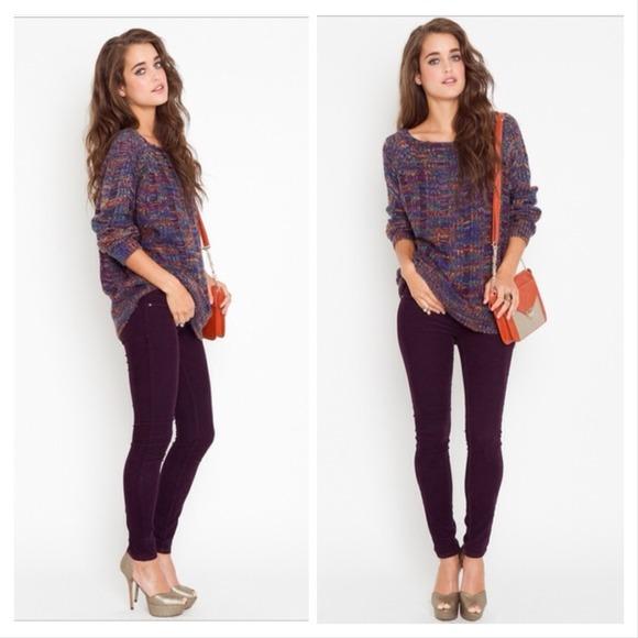 38% off H&M Pants - H&M Dark Purple Corduroy Pants from Amanda's ...