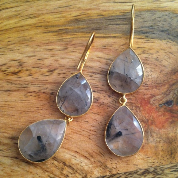 handmade Jewelry - Final price🎉 Tourmalated quartz earrings
