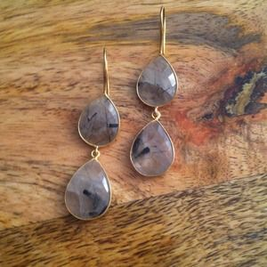 handmade Jewelry - Final price🎉 Tourmalated quartz earrings 1