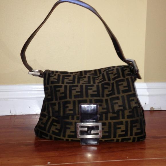 8c4f016db217 FENDI Handbags - FENDI Zucca Mamma Forever Shoulder Handbag