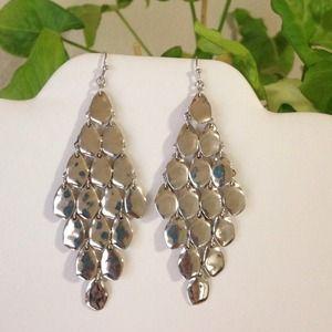 Jewelry - Silver Chandelier Kite Dangle earrings