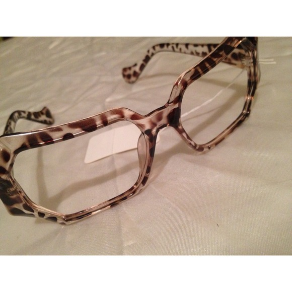 Accessories | Soldleopard Print Lensless Eyeglass Frames | Poshmark