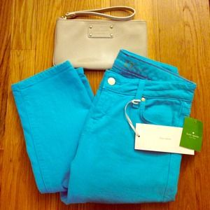 🎉3X HOST PICK!🎉 Kate Spade cropped denim in blue