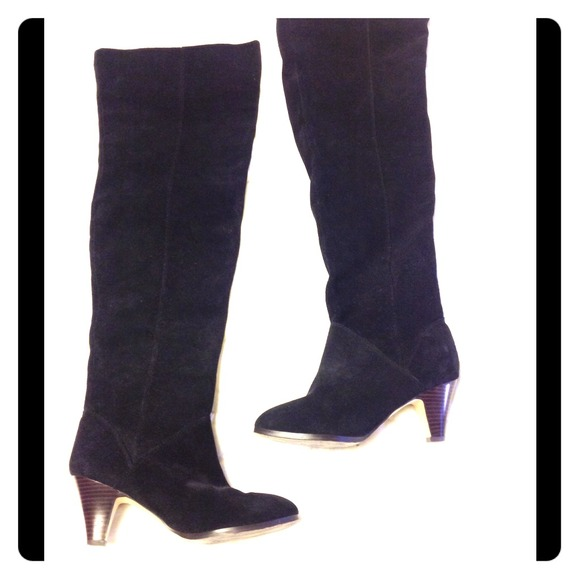 e6120d91805 Dolce Vita Boots - Dolce Vita Black Suede over the knee Boots